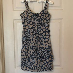 Marc by Marc Jacobs Silk Blue White Square Dress 0